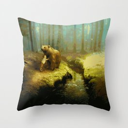 A Little Boy's Dreamscape (Painting) Throw Pillow