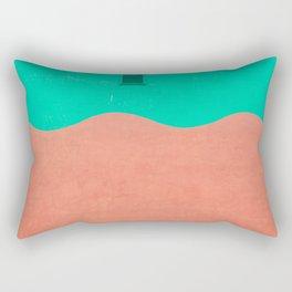 Coral and Seafoam Rectangular Pillow