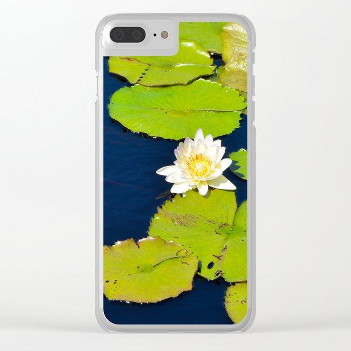 Dark Blue Pond by Teresa Thompson Clear iPhone Case