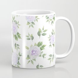 Botanical lavender white green watercolor floral Coffee Mug