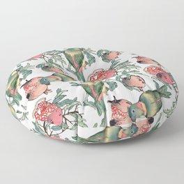 Pomegranate and Lovebirds Floor Pillow