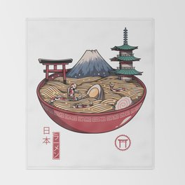 A Japanese Ramen Throw Blanket