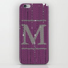 Winter clothes II. Letter M iPhone & iPod Skin