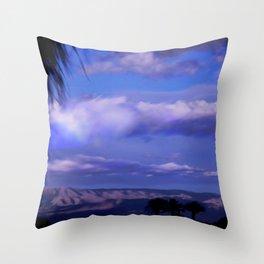 SUNDOWN IN PALM SPRINGS Throw Pillow
