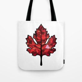 A Maple Leaf with Heart Tote Bag