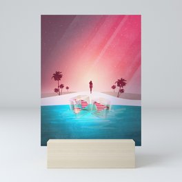Bikini Beach Mini Art Print