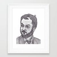 kubrick Framed Art Prints featuring Stanley Kubrick by jamestomgray