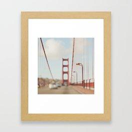 Golden Gate Bridge. A Memory San Francisco Framed Art Print