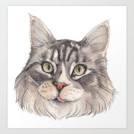 Normie the Cat - artist Ellie Hoult Art Print