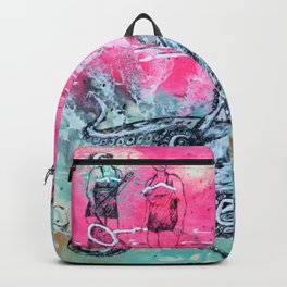 Octopus and Two Women Backpack