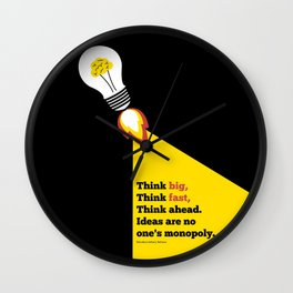 Lab No. 4 - Think Big Dhirubhai Ambani Reliance Corporate Startup Quotes Poster Wall Clock