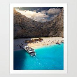 Shipwreck Beach, Greece Art Print