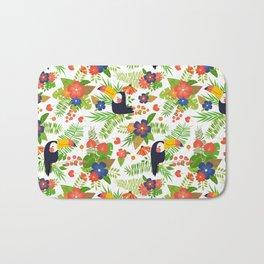 Toucans & Tropical Flowers Bath Mat