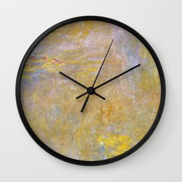 Sea-Roses (Yellow Nirwana) by Claude Monet Wall Clock