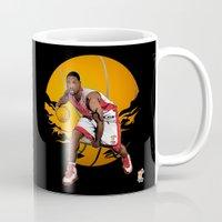 nba Mugs featuring NBA Legends: Dwyane Wade by Akyanyme