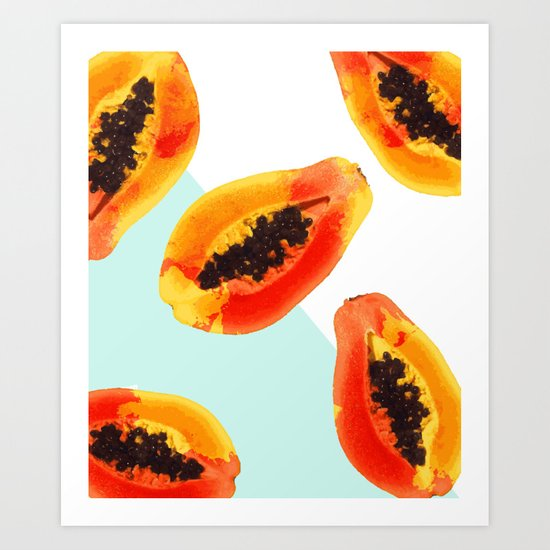 Papaya #society6 Art Print
