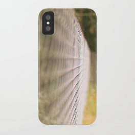 Field fence iPhone Case
