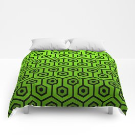 Geometric Design 1 (Lime) Comforters