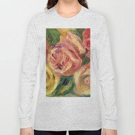 "Auguste Renoir ""Roses"" Long Sleeve T-shirt"
