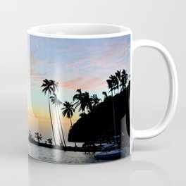 Tropical Island Sunset Coffee Mug