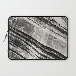 Abstract Marble - Black & Cream Laptop Sleeve
