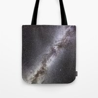 milky way Tote Bags featuring Milky Way by Space99