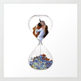 Hourglass of Love (Hayez) Art Print