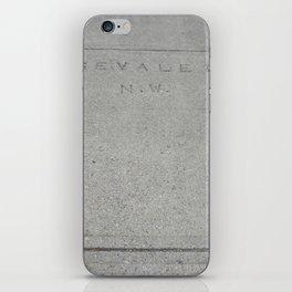 Rosevale Dr NW sidewalk stamp iPhone Skin