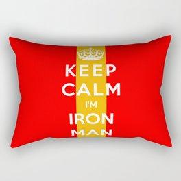 Keep Calm I'm Iron Man Rectangular Pillow