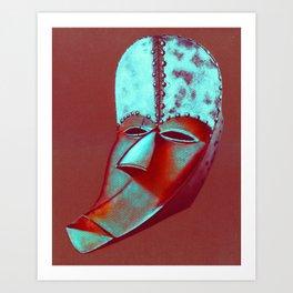 Pop art african mask Art Print