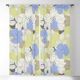 Vintage summer hibiscus flowers design for home decoration Blackout Curtain