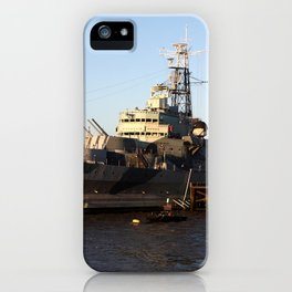 HMS Belfast on the Thames iPhone Case