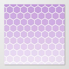 Lavender gradient honey comb pattern Canvas Print