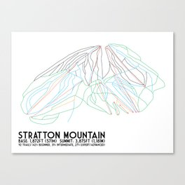 Stratton, VT - Minimalist Trail Art Canvas Print