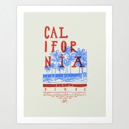 Califonia Bikes Art Print