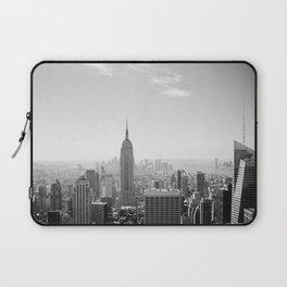 Manhattan - Empire State Building Panorama | B/W Laptop Sleeve