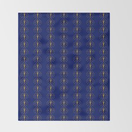 flag of indiana 2-midwest,america,usa,carmel, Hoosier,Indianapolis,Fort Wayne,Evansville,South Bend Throw Blanket