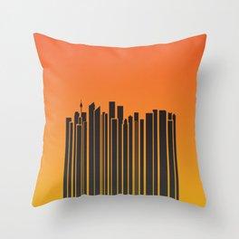 Sydney City Barcode Throw Pillow