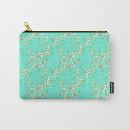 Petite Paisley in Aqua Carry-All Pouch