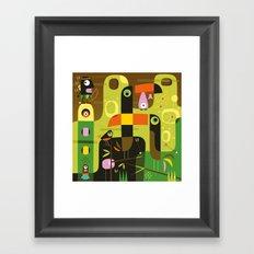 The toucan hunter Framed Art Print