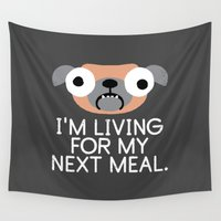 depression Wall Tapestries featuring Stay Hungry by David Olenick