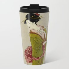 Itsutomi - Vintage Japanese Woodblock Metal Travel Mug