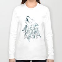 wolf Long Sleeve T-shirts featuring Wolf by LouJah