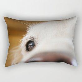Fluffy Tetriever Close up Rectangular Pillow