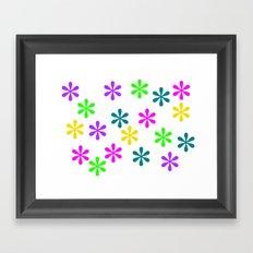 Star Flowers Framed Art Print