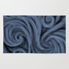 dark blue swirl Rug