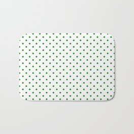 Dots (Forest Green/White) Bath Mat