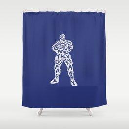 Soldier 76 Type illustration Shower Curtain
