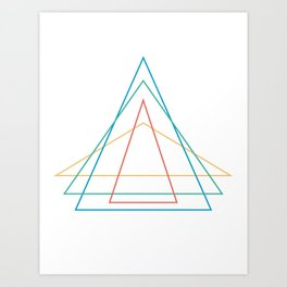 4 triangles Art Print