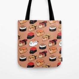 Sushi Pomeranian Tote Bag